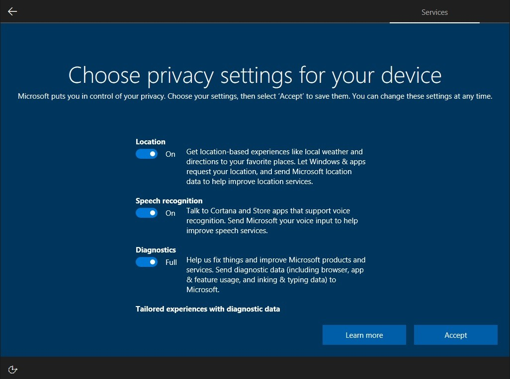 Microsoft Introduces New Windows 10 Privacy Settings to Address