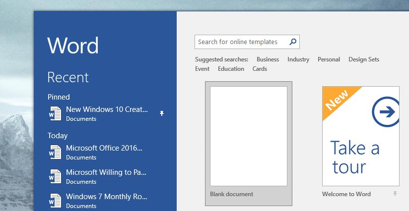 Microsoft Office 2016 Update KB4011730 Breaks Down Word 2016 DOCX - microsoft word