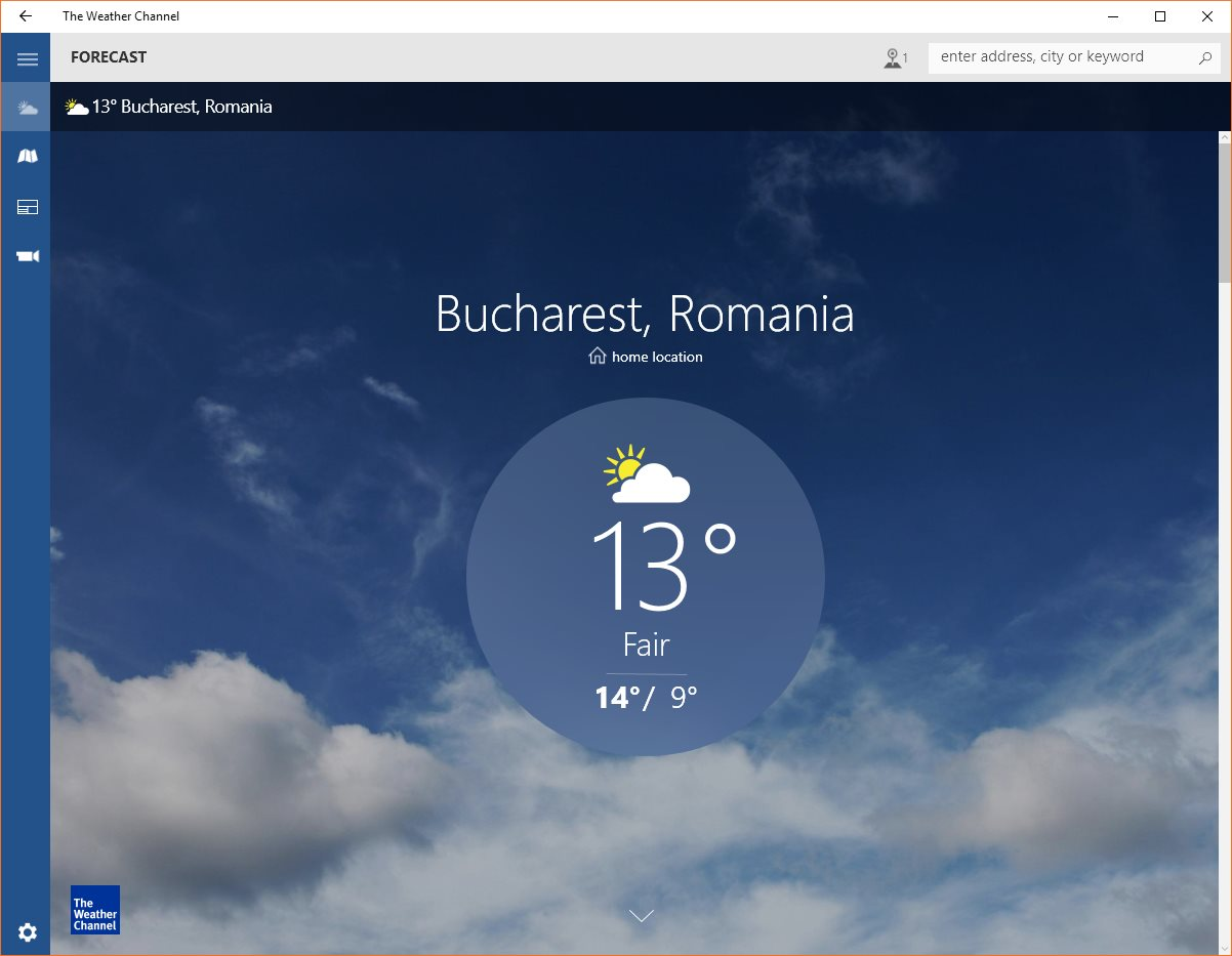 weather channel app for windows 10