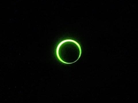 金環日食 7時33分