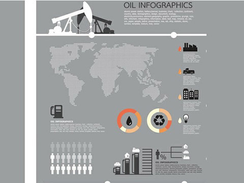 Oil Theme Business Infographics Vector Chart