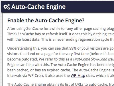 Auto-Cache Engine
