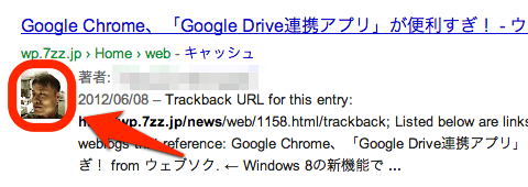 Google検索結果の顔写真