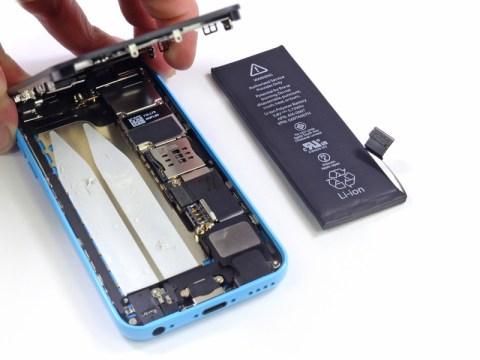 iPhone5c バッテリー取り外し完了