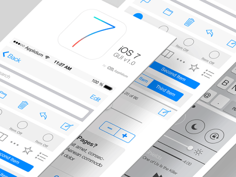 Introducing iOS 7 GUI PSD