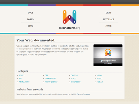Your Web, documented - WebPlatform.org