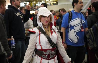 2013年PAX East 電玩展女性玩家 cosplay 刺客教條的主角角色。