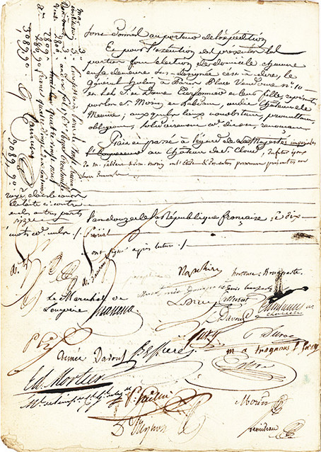 Marriage Contract Signed by Napoleon and Wife -artnet News - marriage contract