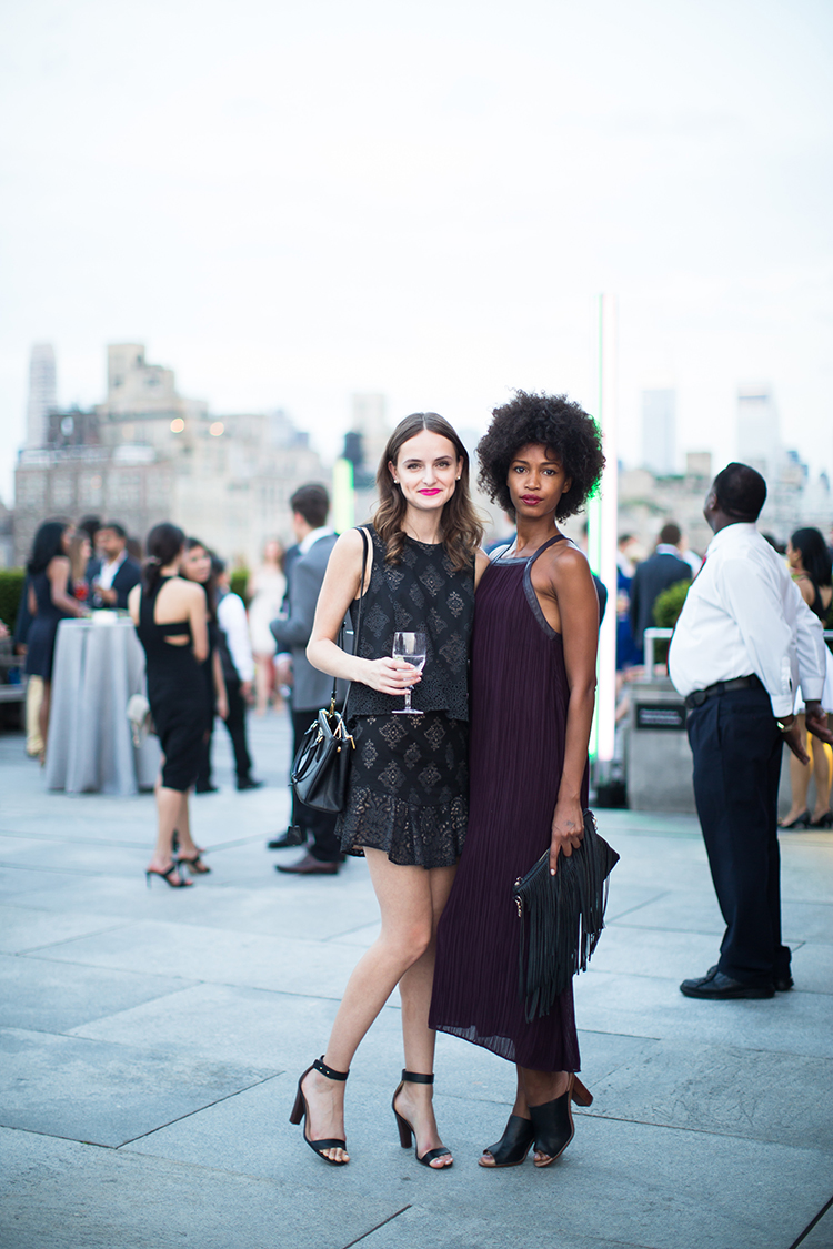 Brittny Haller and Christina Anderson-McDonald at the Met: Young Members Party 2016. Courtesy of Sam Deitch/BFA.