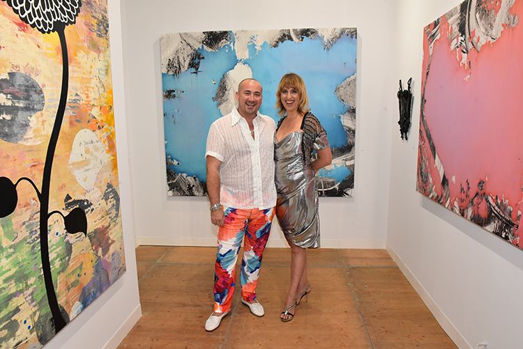 Jason Lyon and Bridgette Morphew at the opening of ArtSouthampton. Courtesy of Annie Watt and Steve Eichner.