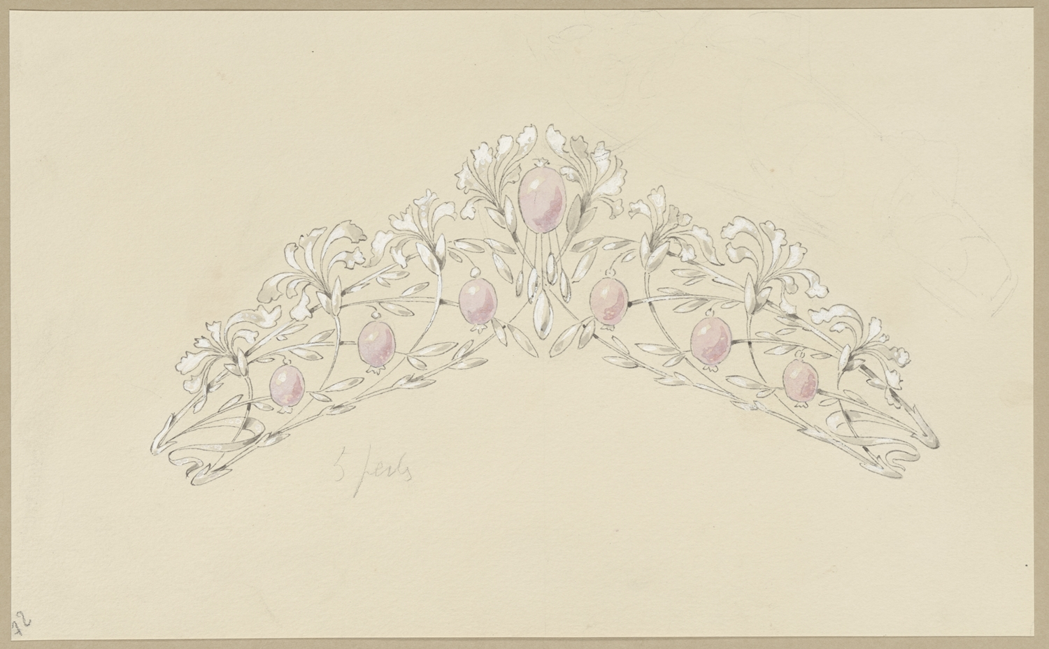 At Salon Du Dessin In Paris Chaumet Unveils Rarely Seen Drawings From Its Vaults Artnet News