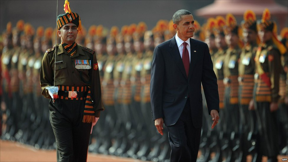 Bbc News In Pictures Us President Barack Obama In India