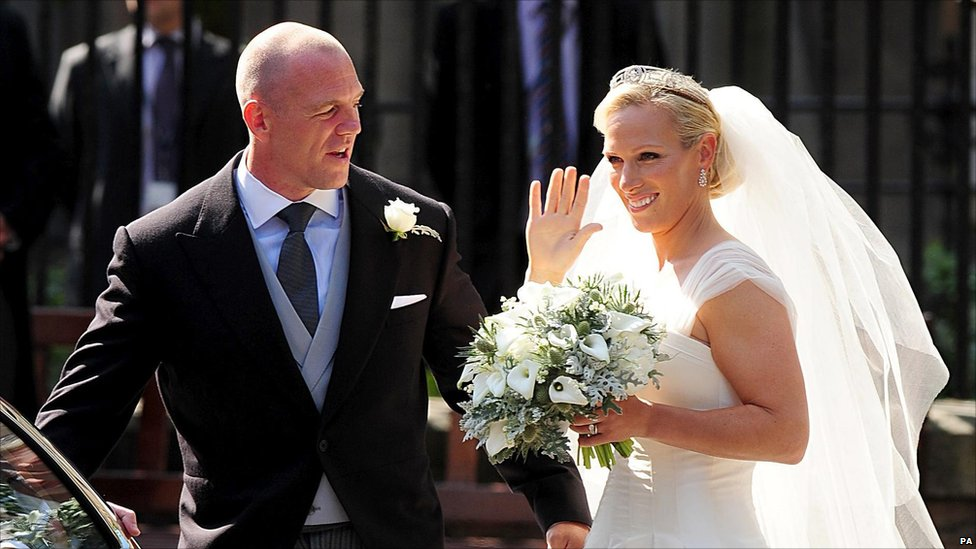 Royale Hochzeiten Bbc News - In Pictures: Zara Phillips' Wedding