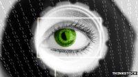 Futuristic camera data graphic