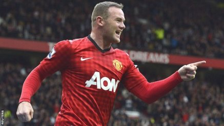 Rooney scores for manchester United