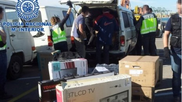 goods seized by Spanish police