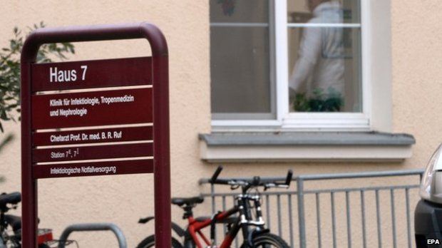 The clinic for infectious diseases at St. Georg Hospital in Leipzig, Germany, 9 October 2014.