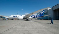 ANA First 787 Special Livery Paint Roll out TMS