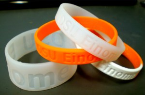 A new kind of wristband could help scientists figure out the health risks of currently untested but commonly used compounds. Credit: Image courtesy of American Chemical Society