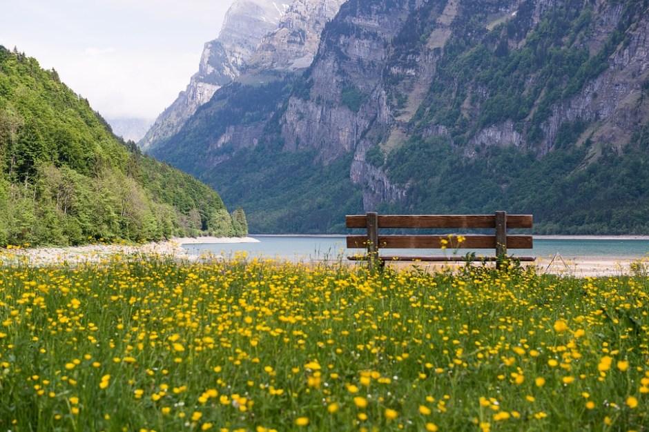 Sitzbank Genfer See