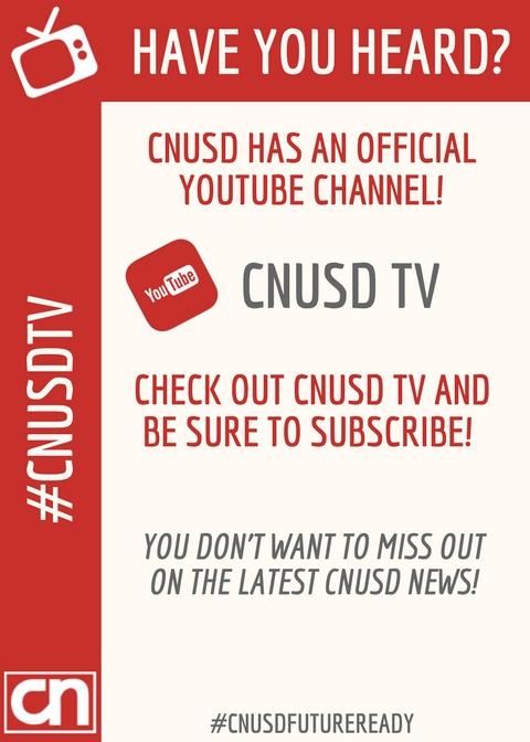 Introducing CNUSD TV! \u2013 The CNUSD Connection - cnusd