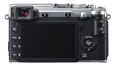 Fujfilm X-E2 back (silver version)