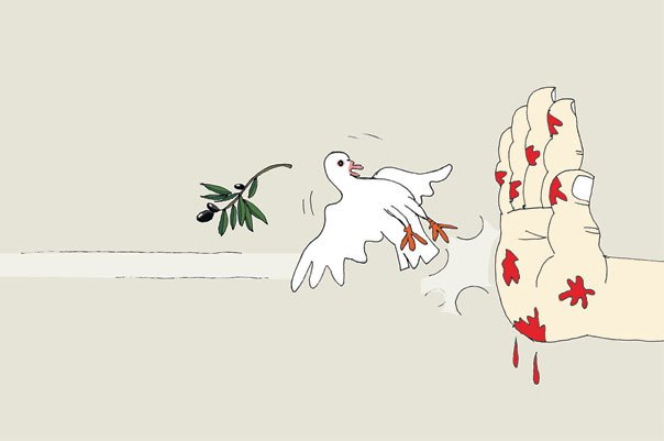 الإرهاب يقتل حمامة السلام