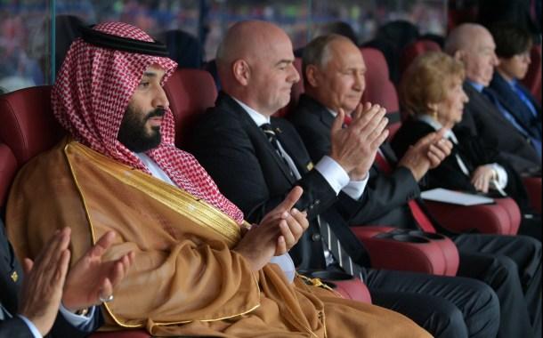 بوتين يمازح ولي العهد السعودي محمد بن سلمان