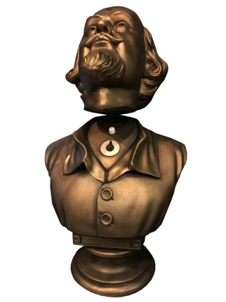 Retro Tv Bank Get The Wayne Mansion Aesthetic With Shakespeare Head Bust