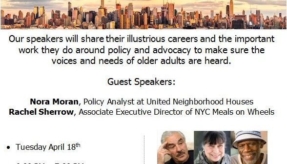 Online Lecture Series \u2013 Loud and Clear Why Older Adults Need Social