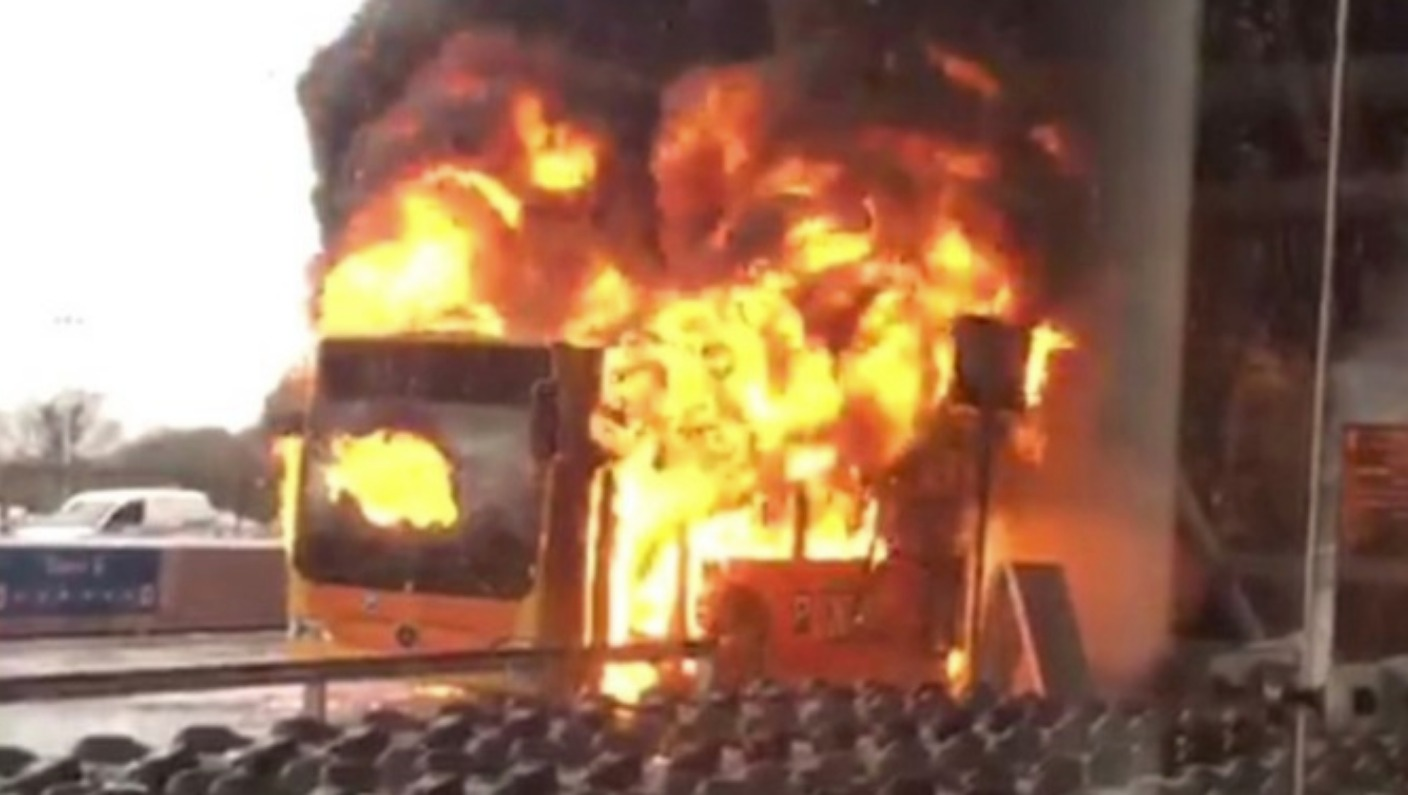 Stansted Car Village Shuttle Stansted Airport Open Following Shuttle Bus Blaze As