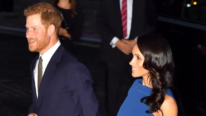 Harry and Meghan attend charity event marking final days of First - formal event