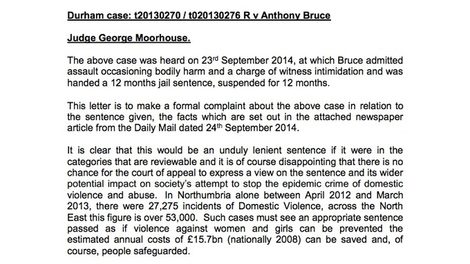 Copy of Commissioners\u0027 letter of complaint Tyne Tees - ITV News