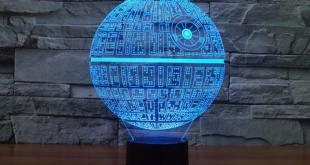 YOU'LL SLEEP SOUNDLY KNOWING THERE'S A DEATH STAR LAMP NEXT TO YOUR BED