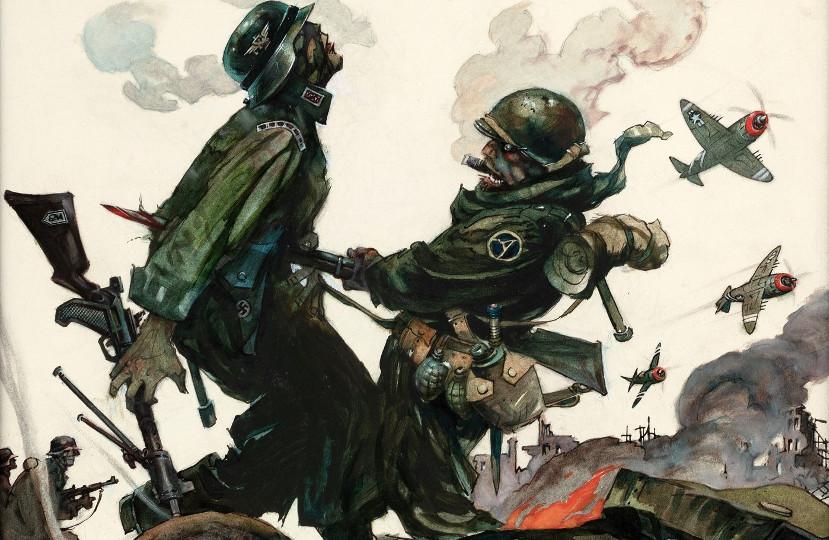 Frank Frazetta War Paintings Headline At Hakes Americana