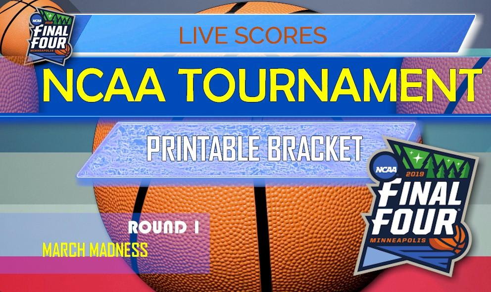2019 NCAA Tournament Bracket Printable NCAA Bracket Schedule