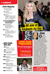 On the cover of Télé Magazine