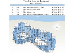 Ritz-Carlton Sunny Isles Floor Plans