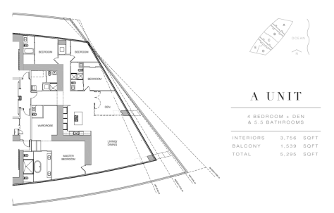Residences by Armani Casa: Floor Plan A (Level 54)