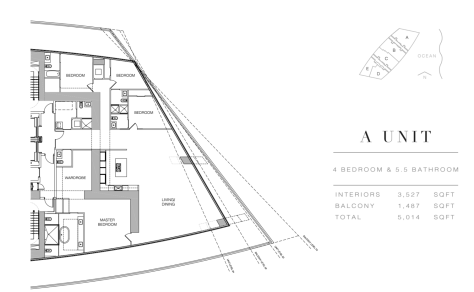 Residences by Armani Casa: Floor Plan A (Level 28)