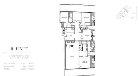 Residences by Armani Casa: Floor Plan B (Level 28)