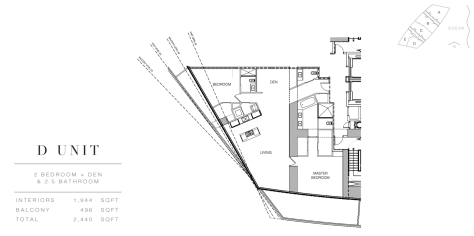 Residence by Armani Casa: Floor Plan D (Level 28)