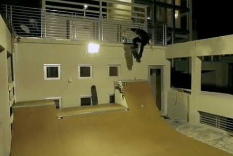 lil wayne's miami beach home rooftop skatepark