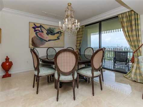 Dining room unit 1602 at Kenilworth Bal Harbour