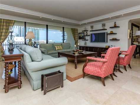 Tv room unit 1602 bal harbour condo kenilworth building