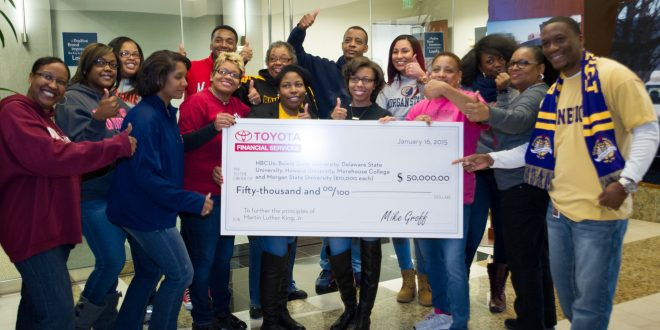 Toyota Financial Services Gives $10,000 To Help Students At Morgan