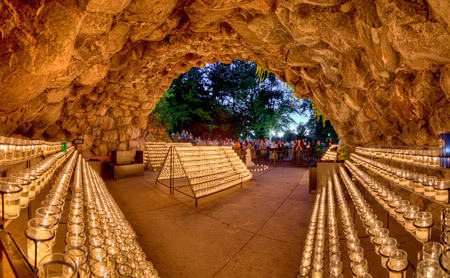 Gorgeous Fall Wallpaper Panoramic Of The Grotto News Notre Dame News