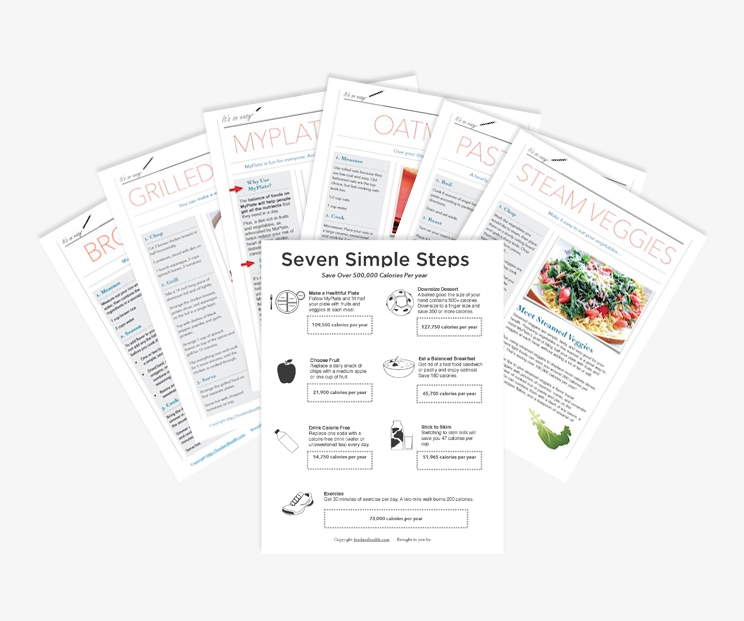 Free Nutrition Handouts for Nutrition Education by Food and Health