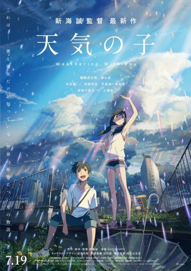 Romance Girl And Boy Wallpaper Makoto Shinkai S Tenki No Ko Release Date Cast And All