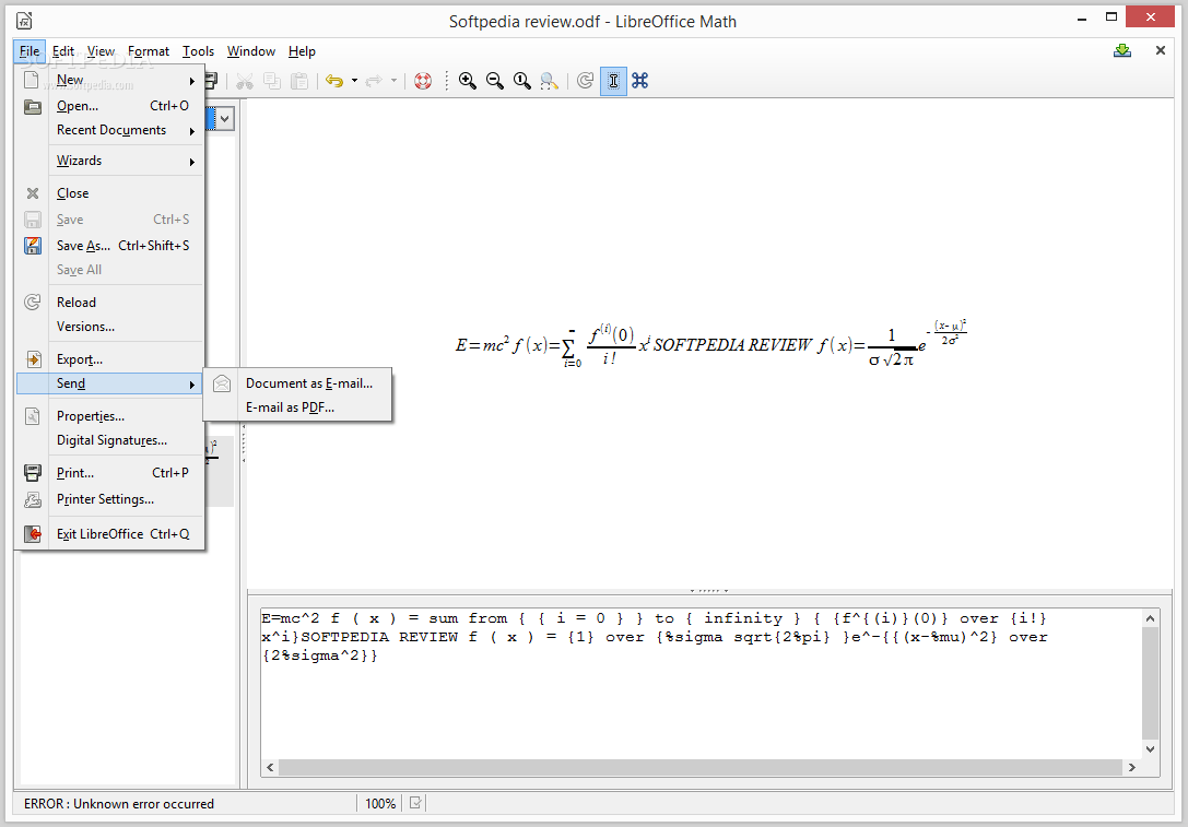Pdf Libre Libreoffice Math Review